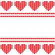 Knitted heart. Valentines day card — Stock Photo #21903863