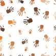 Seamless pattern of hand — Stock Photo #21903877