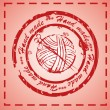 Hand made stamp — Stock Photo #21903897