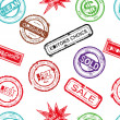 Seamless background rubber stamp — Stock Photo
