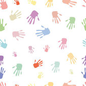 Seamless pattern of hand — Stock Photo