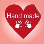 Hand made heart sticker — 图库照片