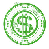 Dollar stamb green — Stock Photo