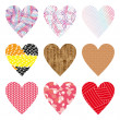 Hearts set — Stock Photo