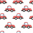 Cartoon car seamless pattern, — Stock Photo