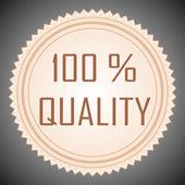 Quality guarantee sign — Photo