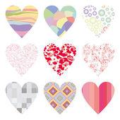 Conjunto de corazones — Foto de Stock