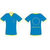 Blue t-shirt with European Union emblem — Stock Photo