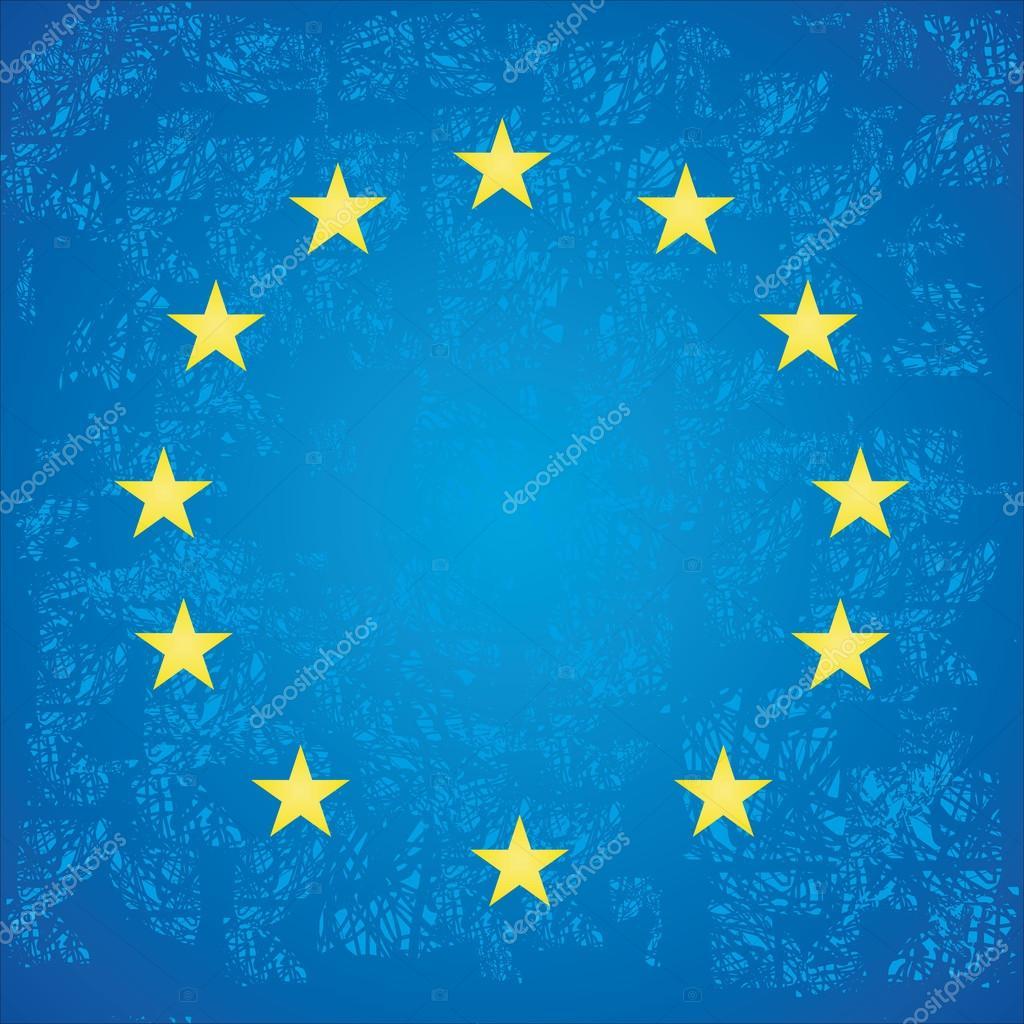 欧盟.欧洲联盟的标志.矢量图