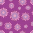 Seamless pattern with lilac flowers — Stock Vector