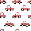 Cartoon car seamless pattern, — Stockvektor