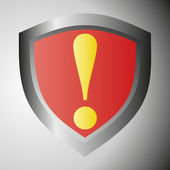 Señal de advertencia de peligro — Vector de stock