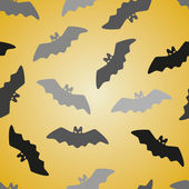 Black bat seamless pattern — Vector de stock