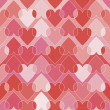 Seamless heart's pattern — Stock Vector