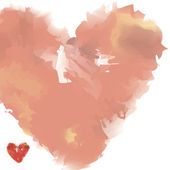 Watercolor heart — Vettoriale Stock