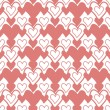 Seamless heart's pattern — Stock Photo