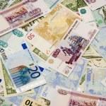 Постер, плакат: Dollars euros rubles