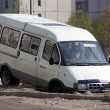 Minibus on cunning russiroad — Stock Photo #12302579