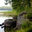 Wild landscape of Finland nature in summer time — Stock Photo