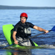 Kayak athlete — Stock Photo
