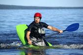 Kayak athlete — Stock Photo