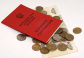 Money and pension sertificate — Stock Photo