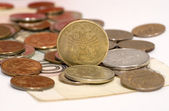 Ruble coins — Stock Photo