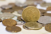 Some ruble coins — Stock Photo