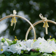 Wedding decorations, a couple of rings — Photo