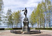 A monument to Peter the Great In Petrozavodsk — Stock Photo