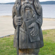 Wooden pagan idol — Stock Photo