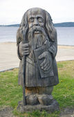 Idolo pagano in legno — Foto Stock