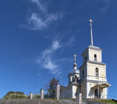 Russian church on the rock — Stock Photo
