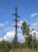 Torre della linea di trasmissione di potenza — Foto Stock