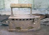 Węgla wzór zardzewiały żelazo — Zdjęcie stockowe