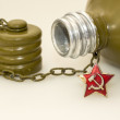 Stock Photo: Military canteen and asterisk of USSR soldier