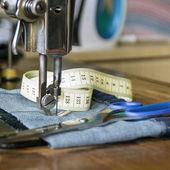 Retro sewing machine — Stock Photo