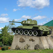 The monument to the tank T-34 — Stock Photo