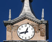 Old clock of the old tower — Stock Photo