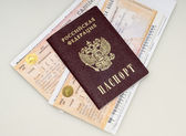 Passport and train ticket — Stock Photo