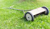 Retro manual lawnmower — Photo