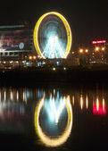 Ruota panoramica di notte. — Foto Stock
