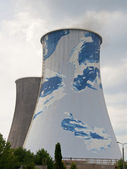 Thermal-electric power station - cooling tower — Stock Photo