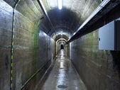 Tunnel under the dam — Stock Photo