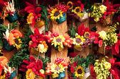 Traditional handicraft colorful flower decoration — Stock Photo