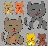 Schattige kleine kat — Stockvector