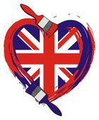 England grunge flag — Stock Vector