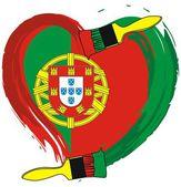 Portugal grunge flag — Stock Vector
