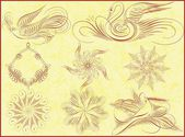 Floral ornament — Stockvector