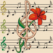Various musical notes — Stock Vector